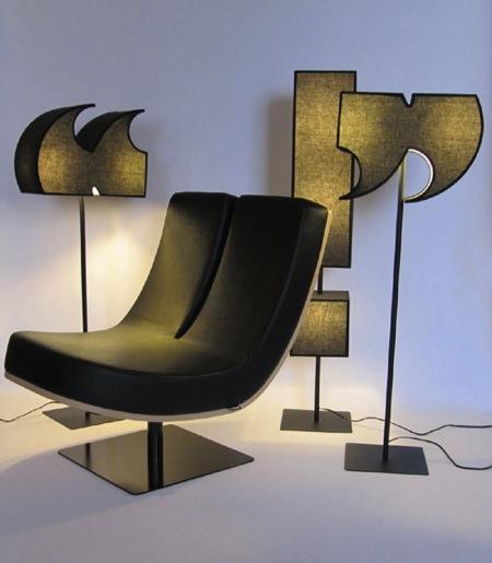 创意字母座椅打造个性私人空间